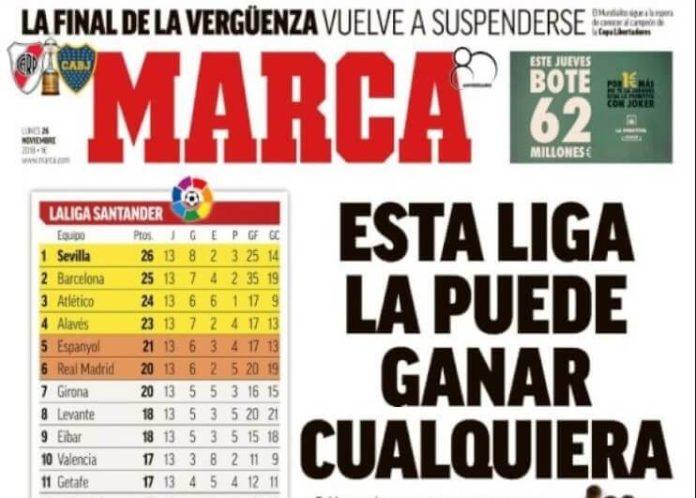 Portadas Deportivas 26/11/2018