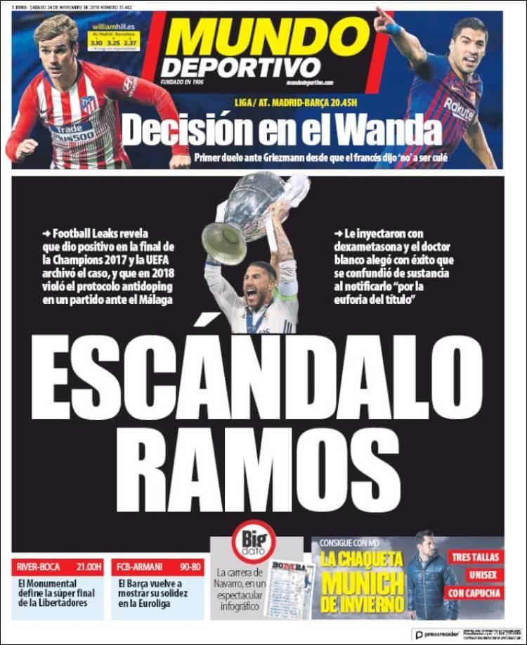 Portada Mundo Deportivo 24/11/2018