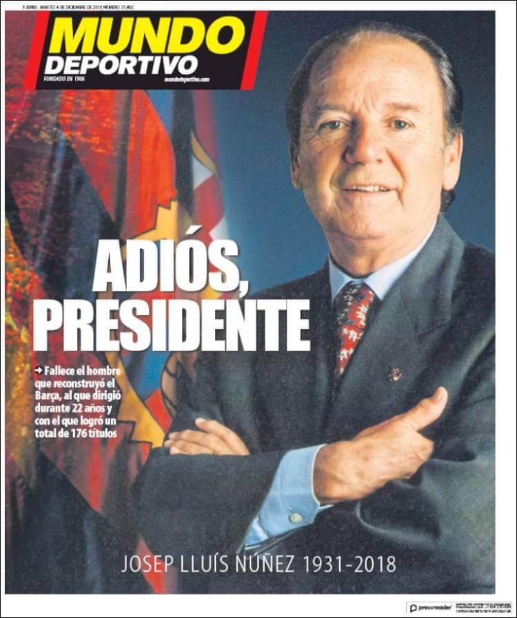 Portada Mundo Deportivo 4/12/2018