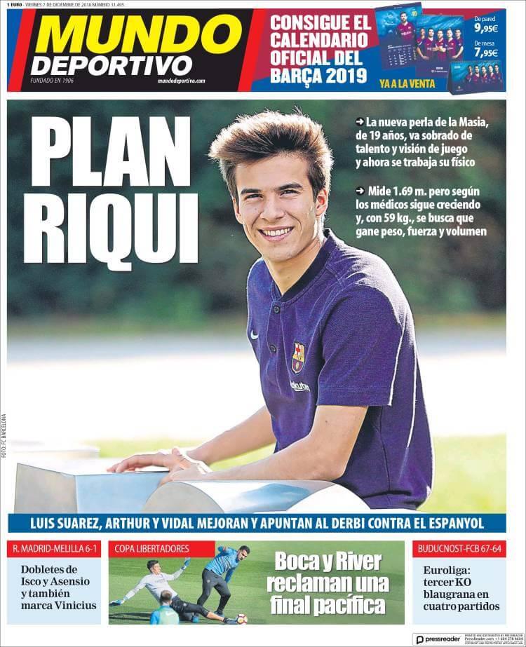 Portada Mundo Deportivo 7/12/2018