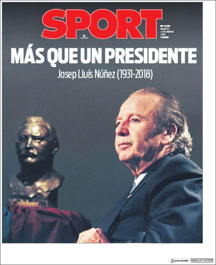 Portada Sport 4/12/2018
