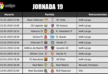 Jornada 19 Liga Santander 2019
