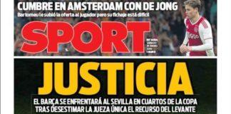 Portadas Deportivas 19/01/2019