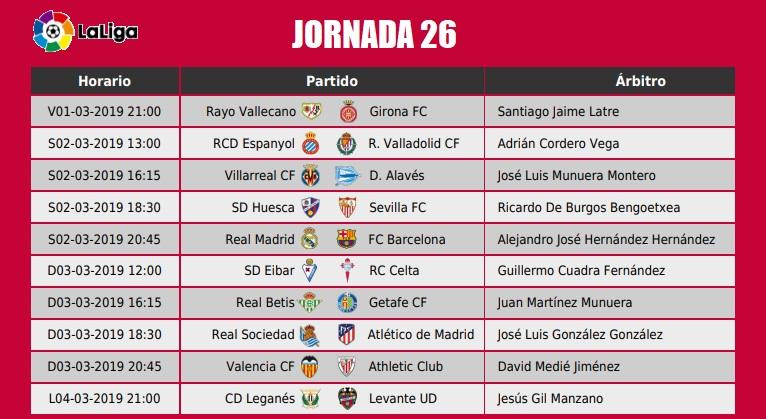 comprar real online en stock Jornada 26 Liga Española 2019   Alineaciones y horarios