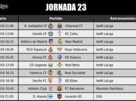 Jornada 23 Liga Santander 2019