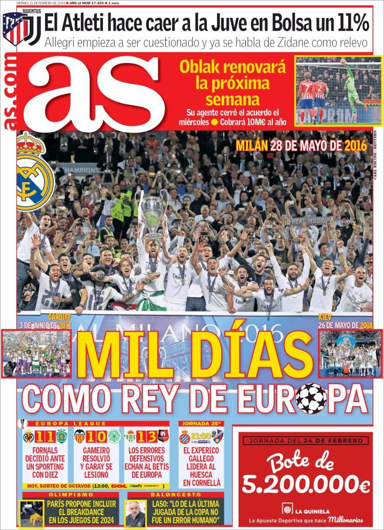 Portada Diario AS
