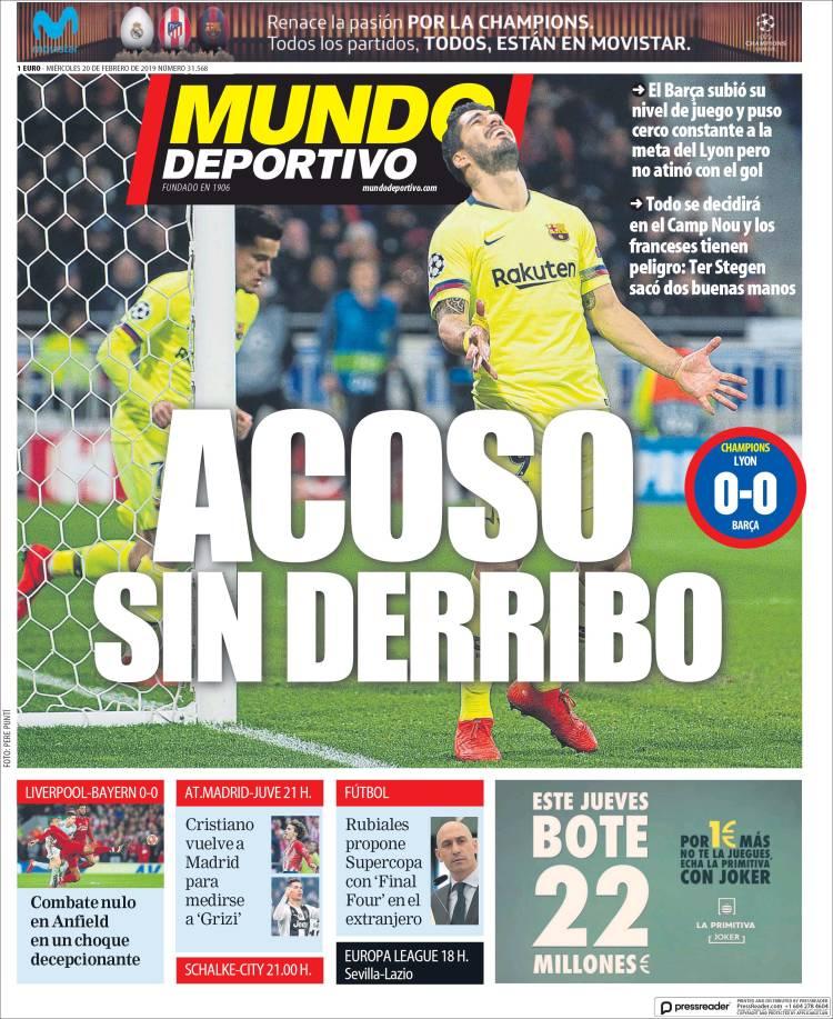 Portada del Periódico Mundo Deportivo