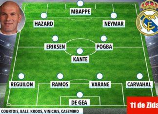 El 11 que Zidane quiere para el Madrid