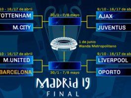 Calendario Champions League 2019