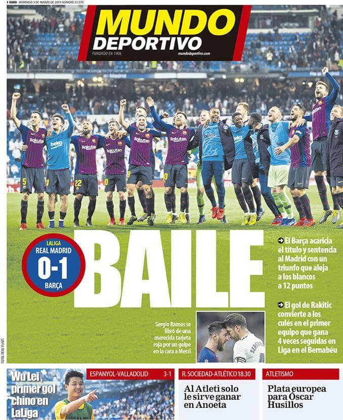 Portada Mundo Deportivo El Clásico