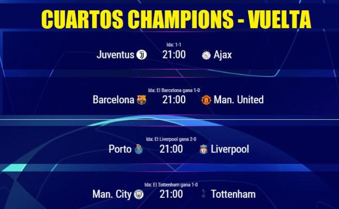 Cuartos de final de Champions partidos