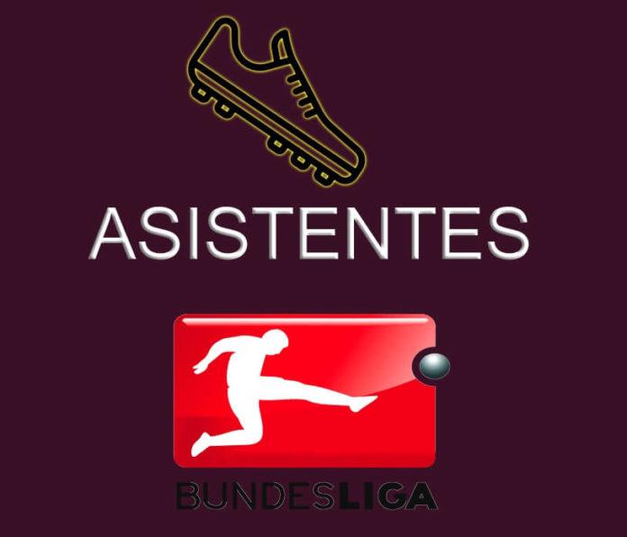 Máximos Asistentes Bundesliga 2019-2020