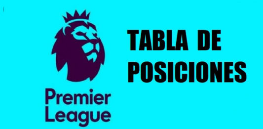 tabla de posiciones premier league