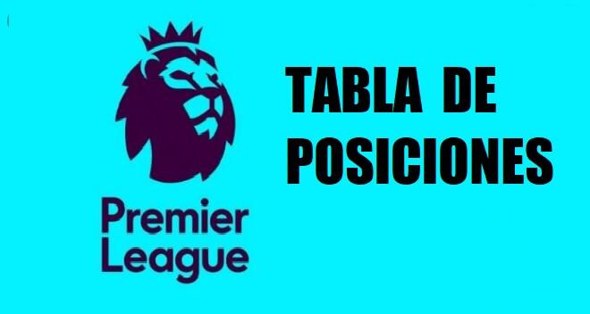 tabla de posiciones premier league