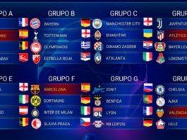 Fixture Champions League 2019-2020