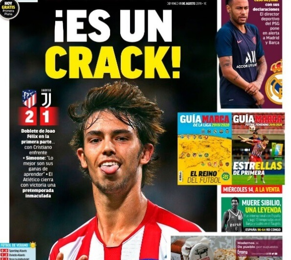Portadas Deportivas 11/08/2019