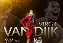 Virgil Van Dijk UEFA Best Player 2019