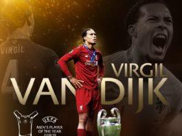 Virgil Van Dijk UEFA Best Player 2019