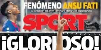 Portadas Deportivas 16/09/2019