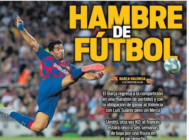 Portadas Deportivas 14/09/2019