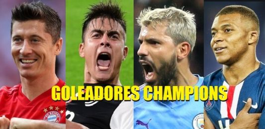 Goleadores Champions League 2019-2020