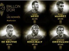 Los 30 Candidatos al Balón de Oro 2019