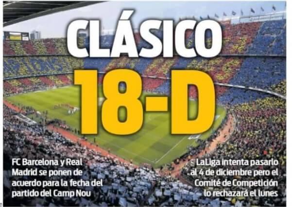 Portadas Deportivas 19/10/2019