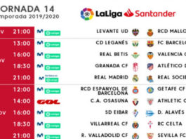 Jornada 14 Liga Española 2019