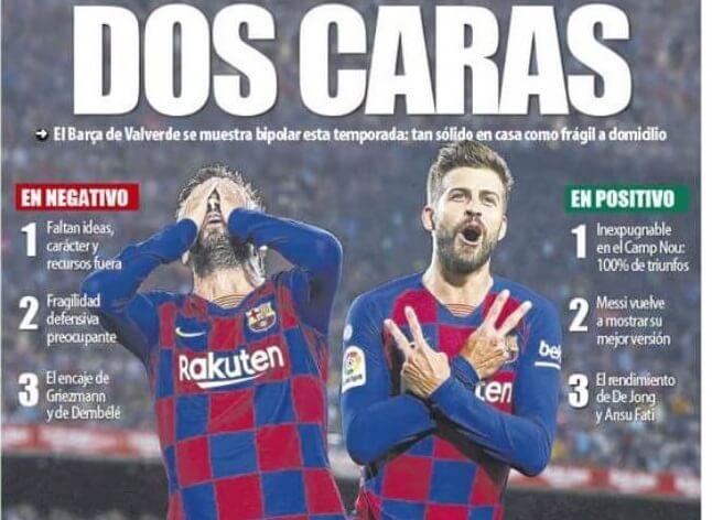 Portadas Deportivas 4/11/2019