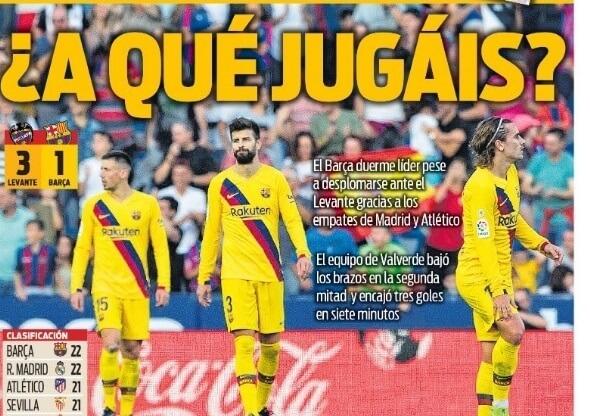 Portadas Deportivas 3/11/2019