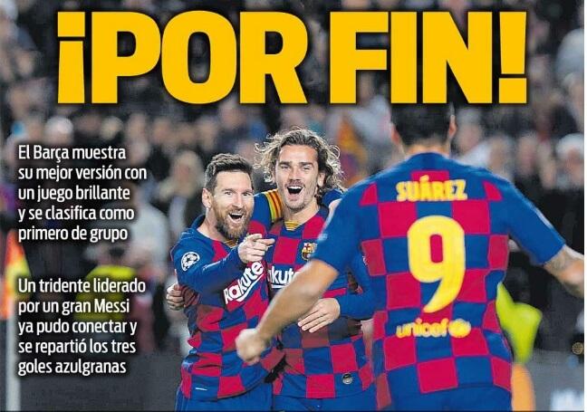 Portadas Diarios Deportivos 28/11/2019