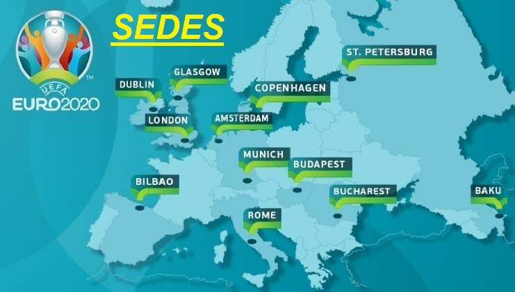 Resultado de imagen para sedes de la euro 2020
