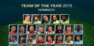Team of the Year Nominados