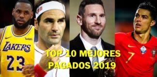 Los 10 Deportistas Mejor Pagados del 2019