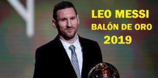 Lionel Messi Balón de Oro 2019