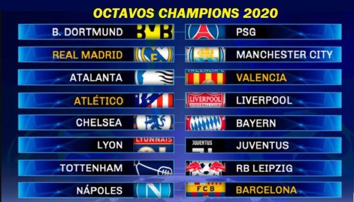 Calendario Octavos Champions League 2020