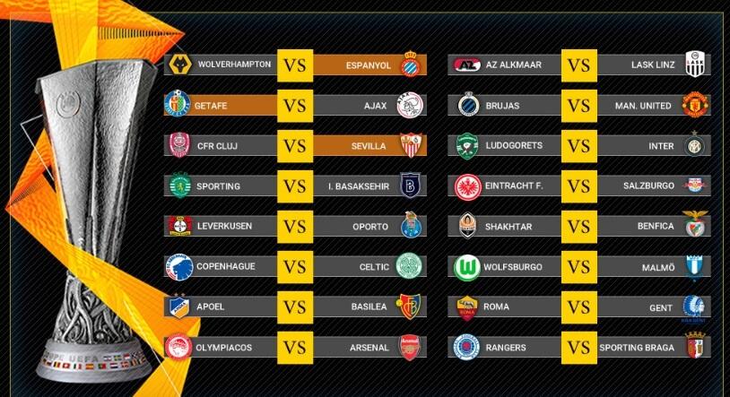 dieciseisavos europa league 2020