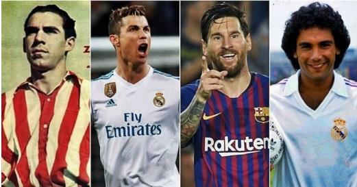 goleadores historicos liga española