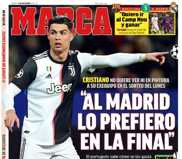 Portadas Diarios Deportivos 13/12/2019