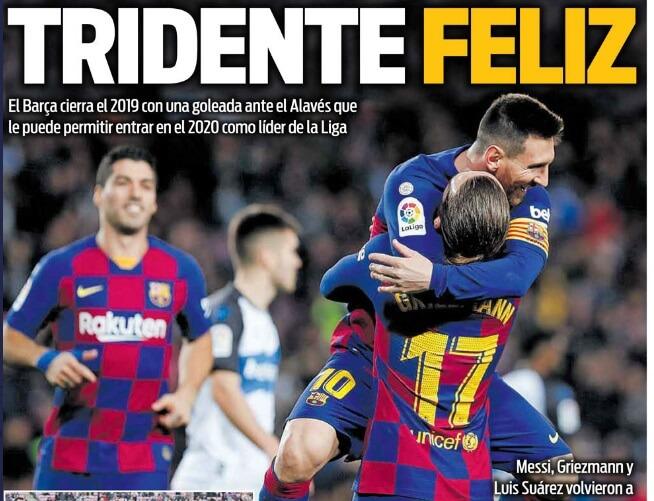 Portadas Diarios Deportivos 22/12/2019