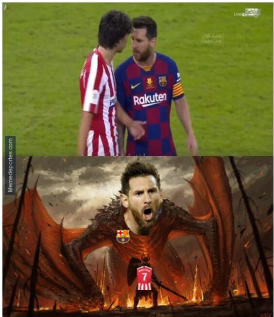 Memes Barcelona-Atlético Supercopa 2020