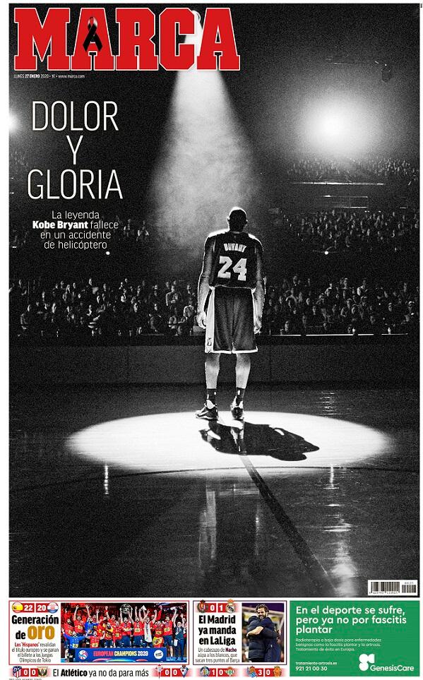 Portada Marca Muere Kobe Bryant