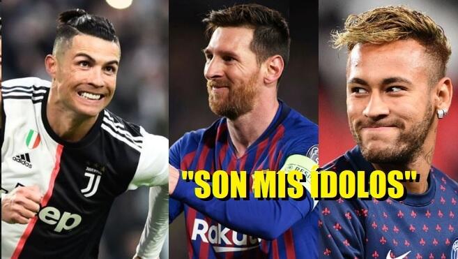 Messi y Cristiano son Mis Ídolos