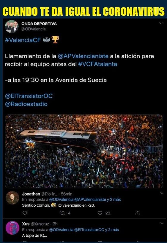Memes Valencia-Atalanta Octavos Champions 2020