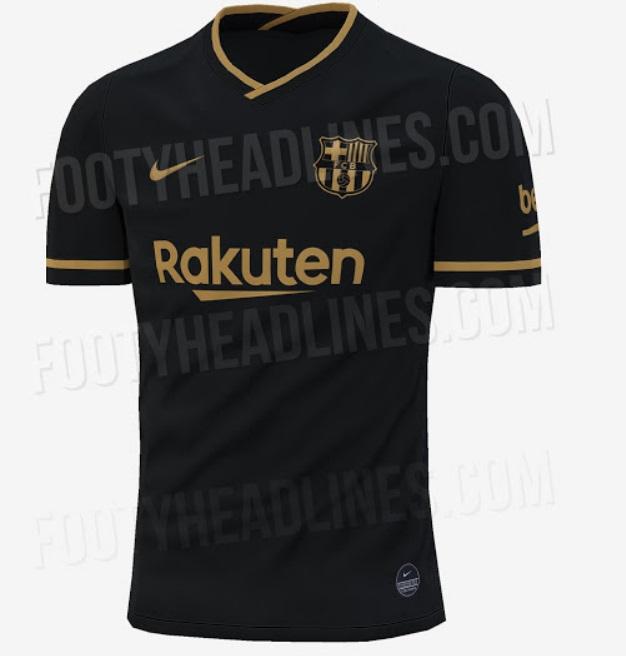 Camiseta Barcelona 2020-2021 Negra - Segunda Equipación