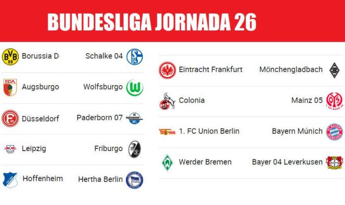 Bundesliga Partidos Jornada 26