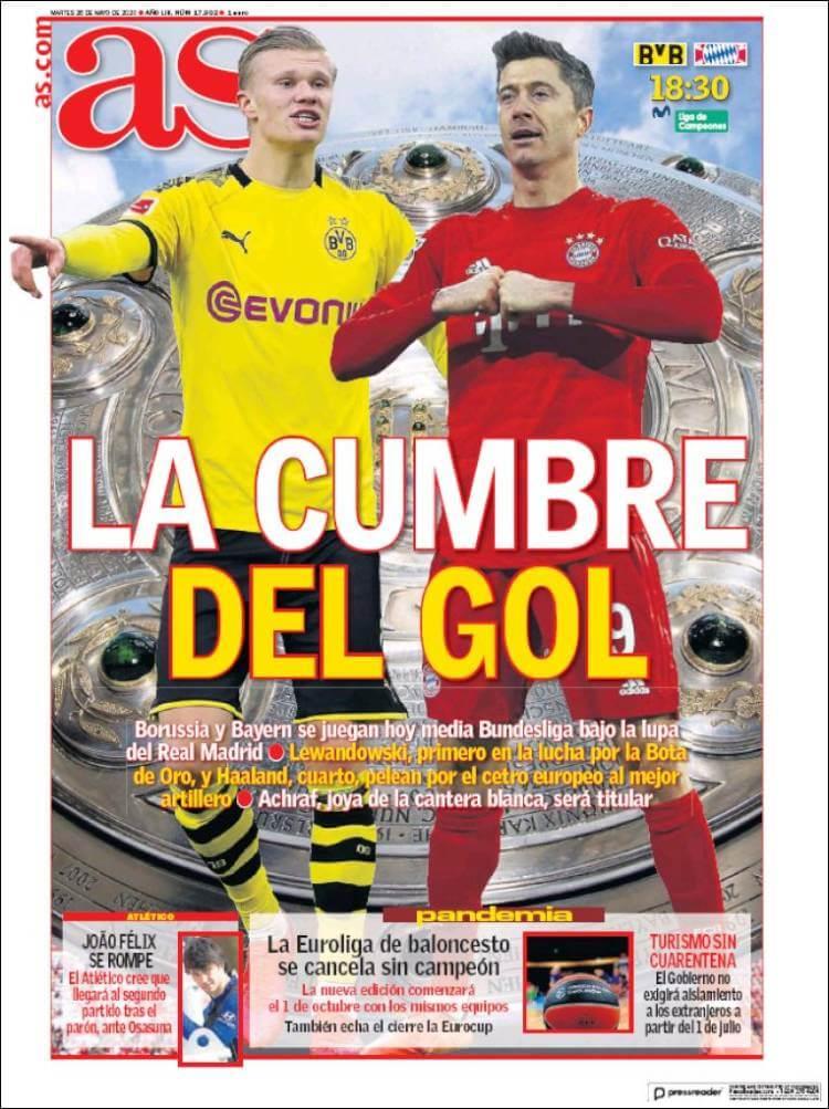Portadas Diarios Deportivos Martes 26/05/2020