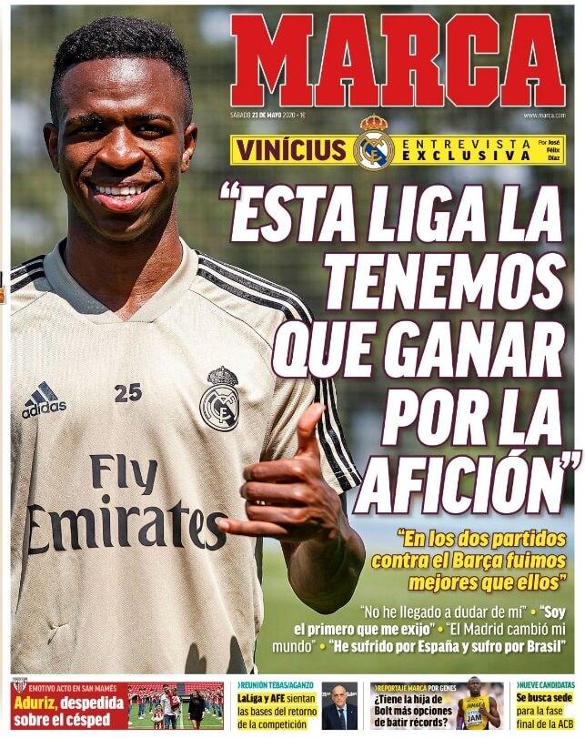 Portadas Diarios Deportivos Sábado 23/05/2020