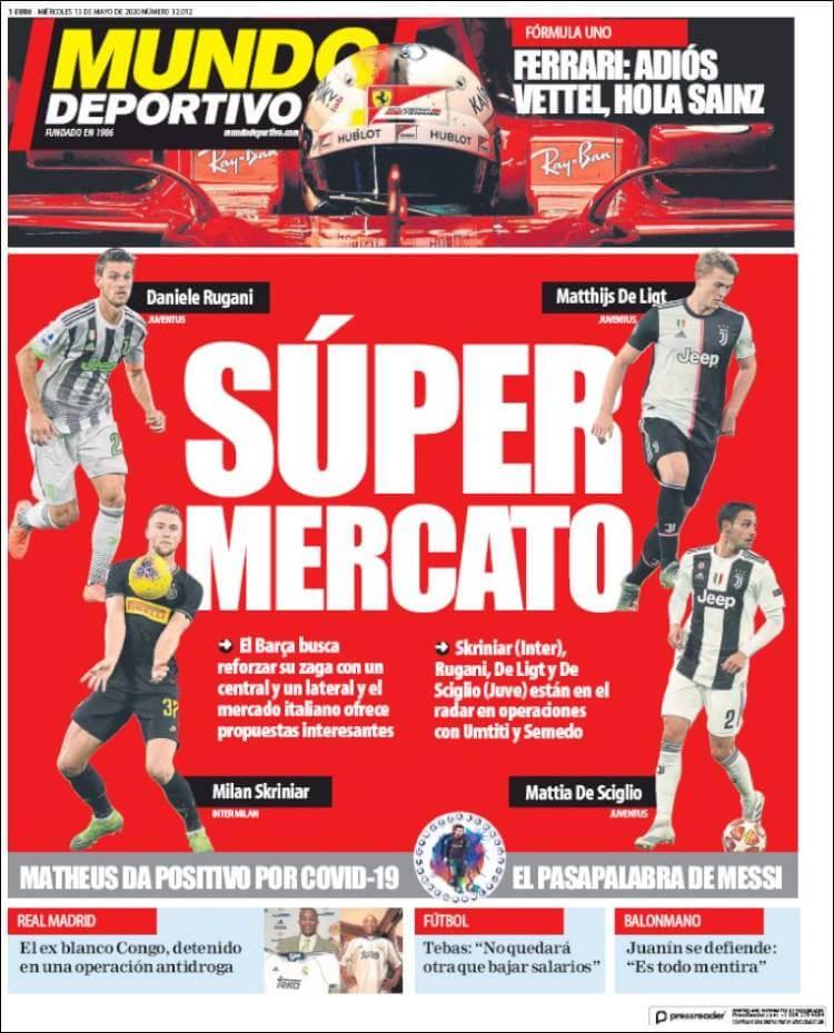 Portadas Diarios Deportivos Miércoles 13/05/2020