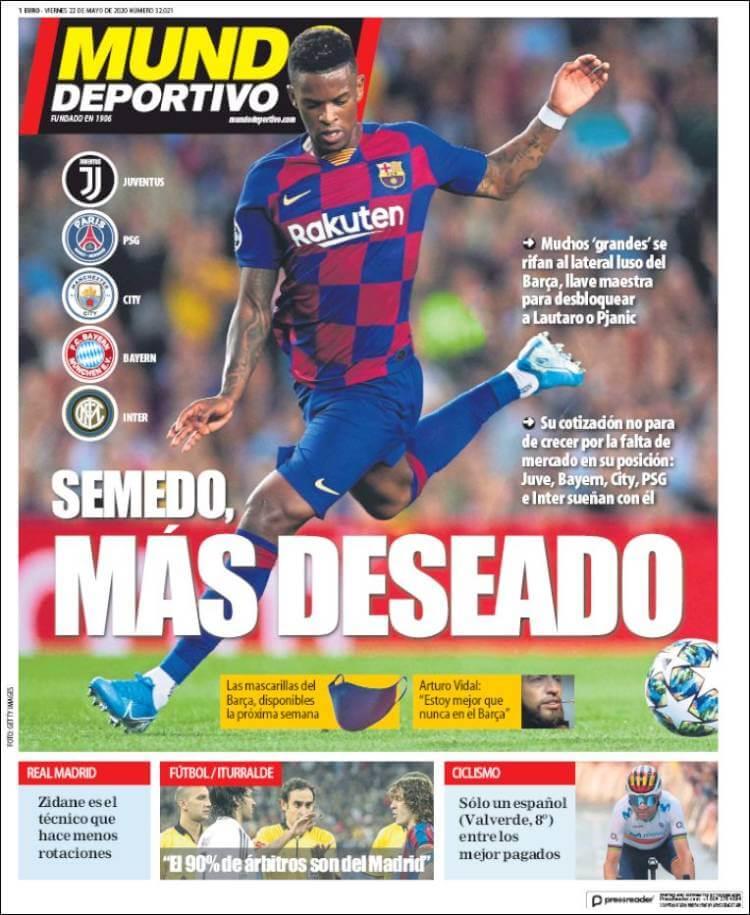Portadas Diarios Deportivos Viernes 22/05/2020